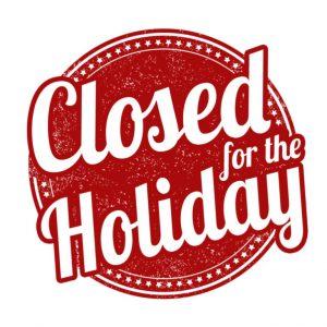 Notice of Holiday Closure