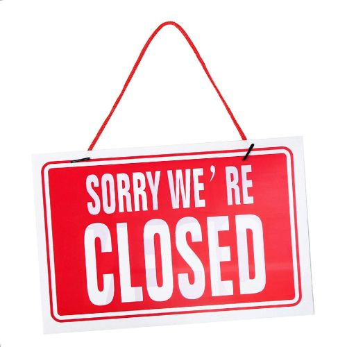 Notice of Closure – COVID-19 – April 2020